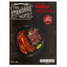 The Standard Meat Co Asian Pork Belly (Frozen) 400g $15.65 per packet