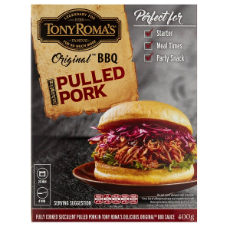 Tony Roma's Pulled Pork in Original BBQ Sauce x 400g (Frozen) $15.65 per packet